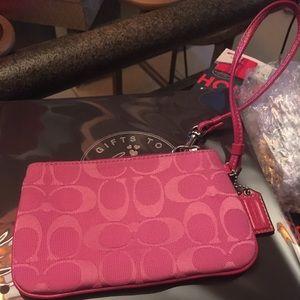 Coach clutch wristlet purse
